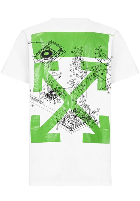 Off-White X Pioneer Dj SE_Console T-shirt  Off-White   8   OMAA027G21JER0010159