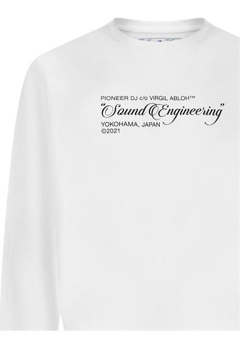 Off-White X Pioneer Dj SE_Console Sweatshirt Off-White   -108764232   OMBA025G21FLE0010159