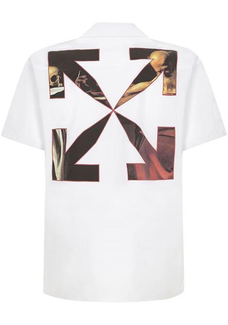 Off-White Caravaggio Holiday Shirt Off-White | -1043906350 | OMGA163R21FAB0040125