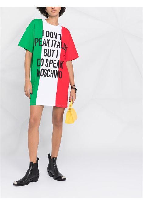 Abito Mini Italian Slogan Moschino Moschino   11   A04245401888
