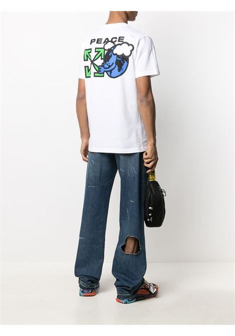 T-shirt Peace Worldwide Off-White Off-White | 8 | OMAA027R21JER0090155