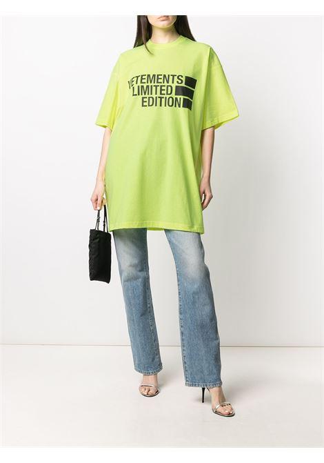T-shirt Vetements Vetements | 8 | UE51TR810YNEONYELLOW