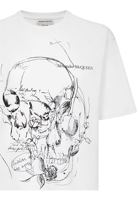 Alexander McQueen Skull Sketchbook T-Shirt Alexander McQueen | 8 | 651917QZACN0900