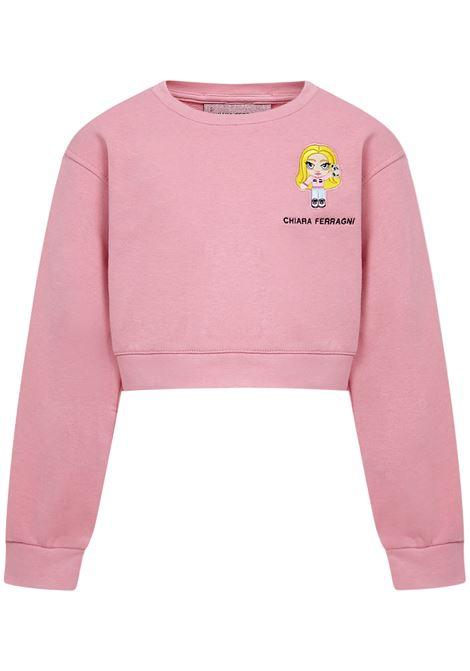 Chiara Ferragni Kids Sweatshirt Chiara Ferragni kids | -108764232 | 21PECFKF062SACHETPINK