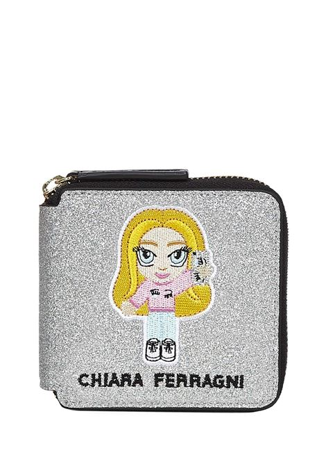 Chiara Ferragni Kids Mascotte Wallet Chiara Ferragni kids | 63 | 21PECFWA005SILVER