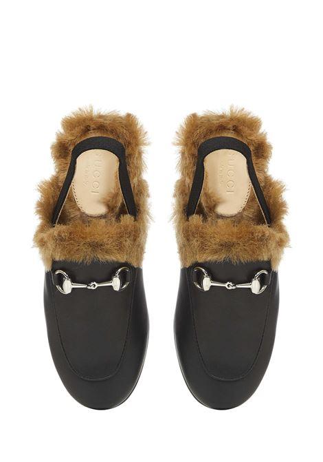 Gucci Junior Princetown sandals  Gucci Junior | 813329827 | 5261920IIK01064