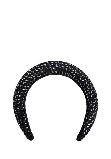Maison Michel Miwa Headband  Maison Michel | -1494531678 | 2410001001BLACK