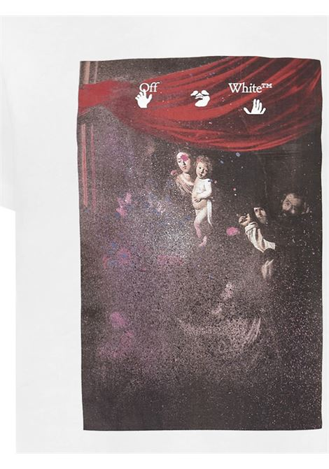 Off-White Sprayed Caravaggio T-shirt  Off-White | 8 | OMAA027S21JER0100101
