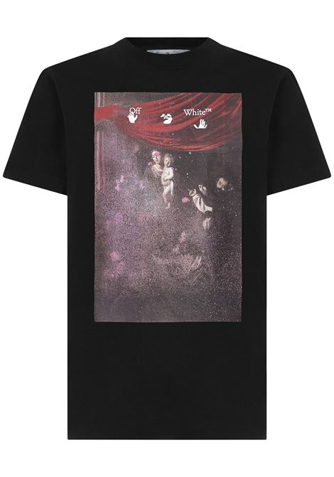 Off-White Sprayed Caravaggio T-shirt  Off-White | 8 | OMAA027S21JER0101001
