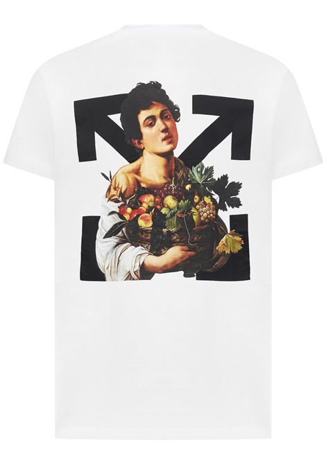 Off-White Caravaggio Boy T-shirt Off-White | 8 | OMAA027S21JER0110110