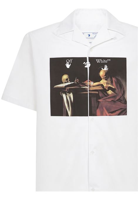 Off-White Caravaggio Holiday Shirt Off-White | -1043906350 | OMGA163R21FAB0040125