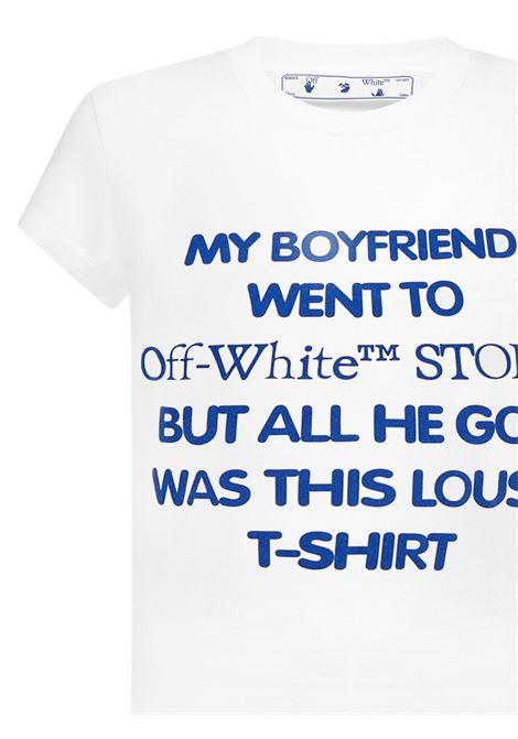 T-shirt Slogan Print Off-White Off-White | 8 | OWAA040R21JER0020145