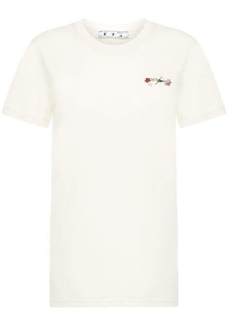 T-shirt Embroidered Flowers Arrow Off-White Off-White | 8 | OWAA049R21JER0036184