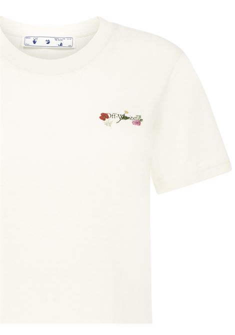 Off-White Embroidered Flowers Arrow T-shirt Off-White | 8 | OWAA049R21JER0036184