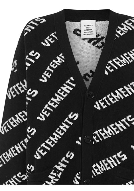 Cardigan Vetements VETEMENTS | 39 | UE51KN400BBLACKWHITE