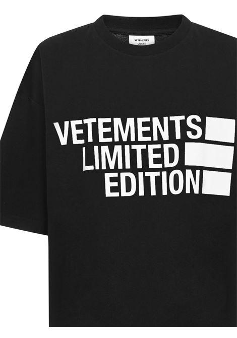 Vetements T-shirt VETEMENTS | 8 | UE51TR810BBLACK