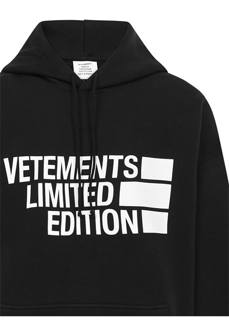 Felpa Vetements VETEMENTS | -108764232 | UE51TR820BBLACK