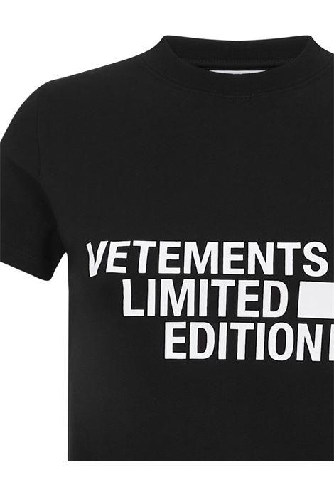Vetements T-shirt Vetements | 8 | WE51TR840BBLACK