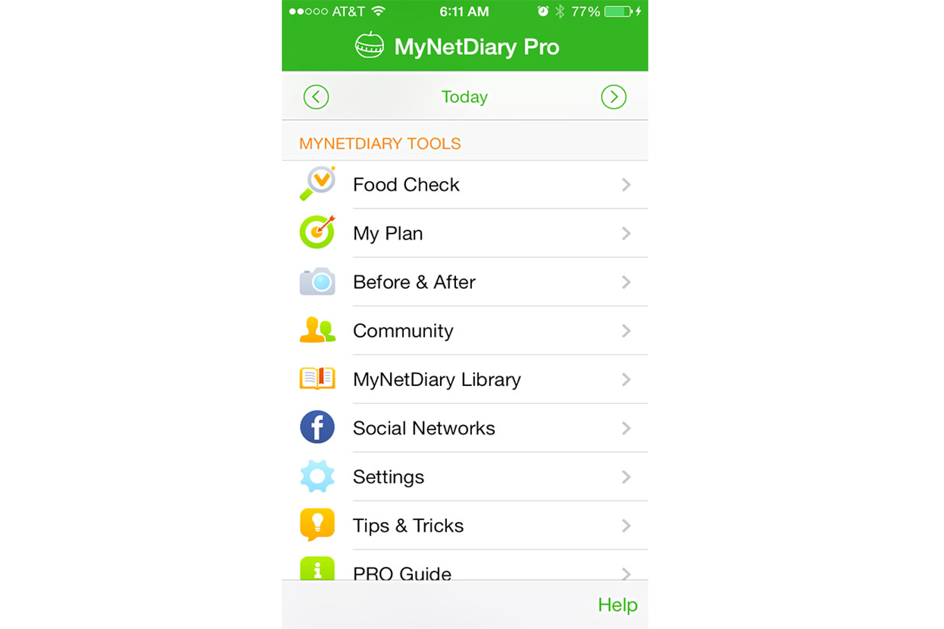 MyNetDiary Calorie Counter PRO Updated for iOS8 with HealthKit Integration