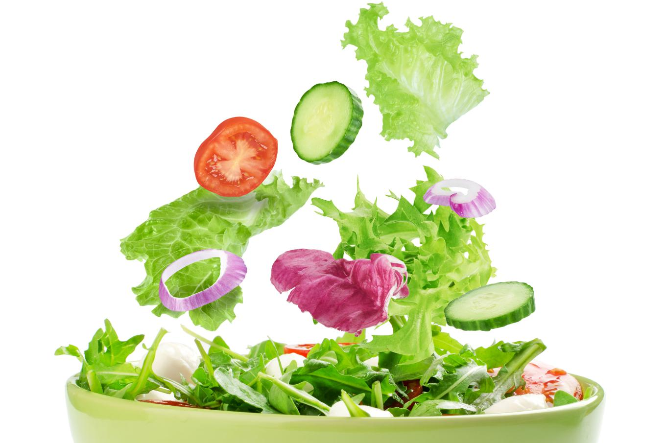 When is the best time to eat a salad?  Before, during or after a meal?