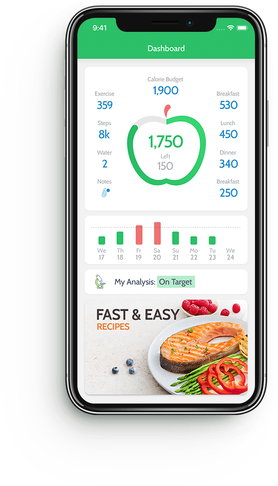 MyNetDiary calorie counter app for iPhone and Android