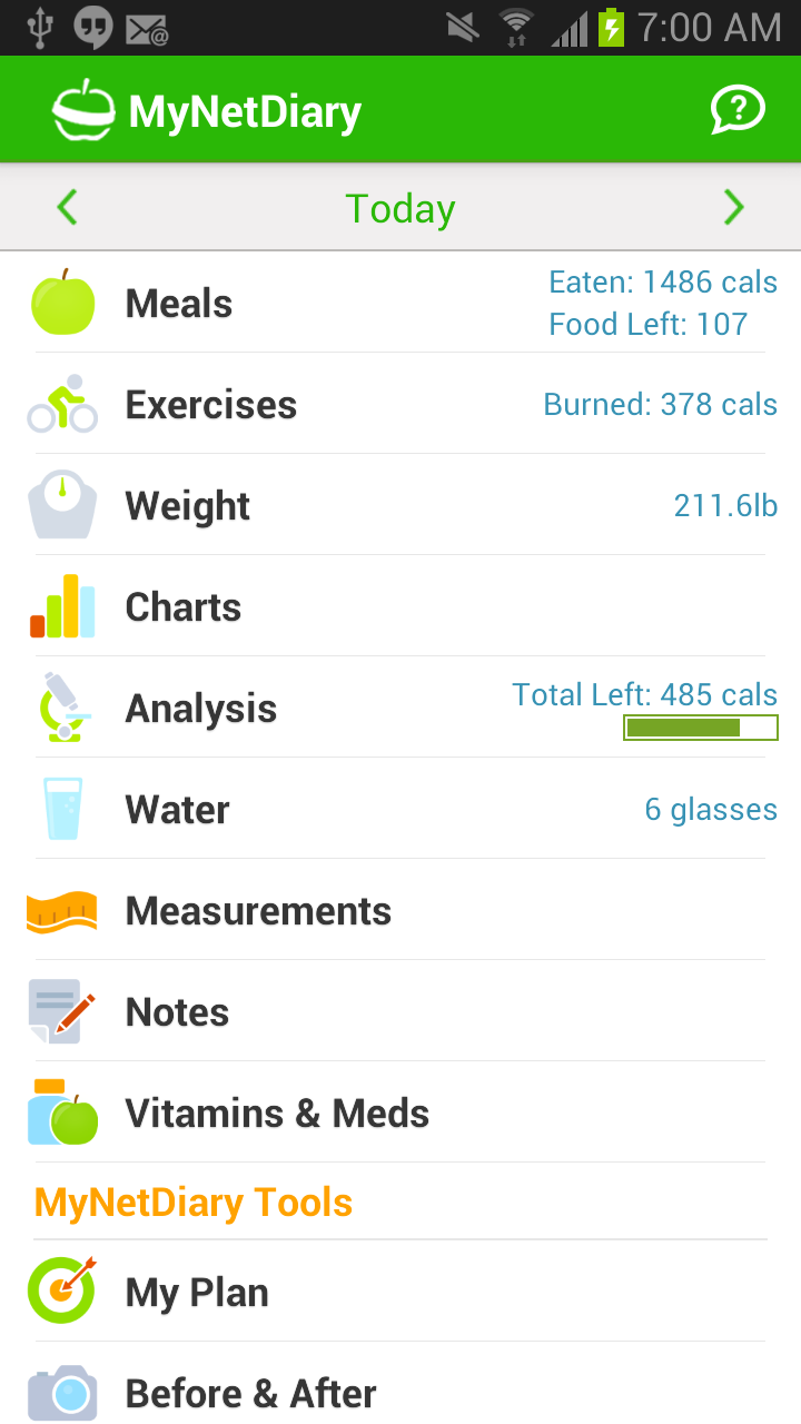 the best calorie counter and food diary app for android mynetdiary