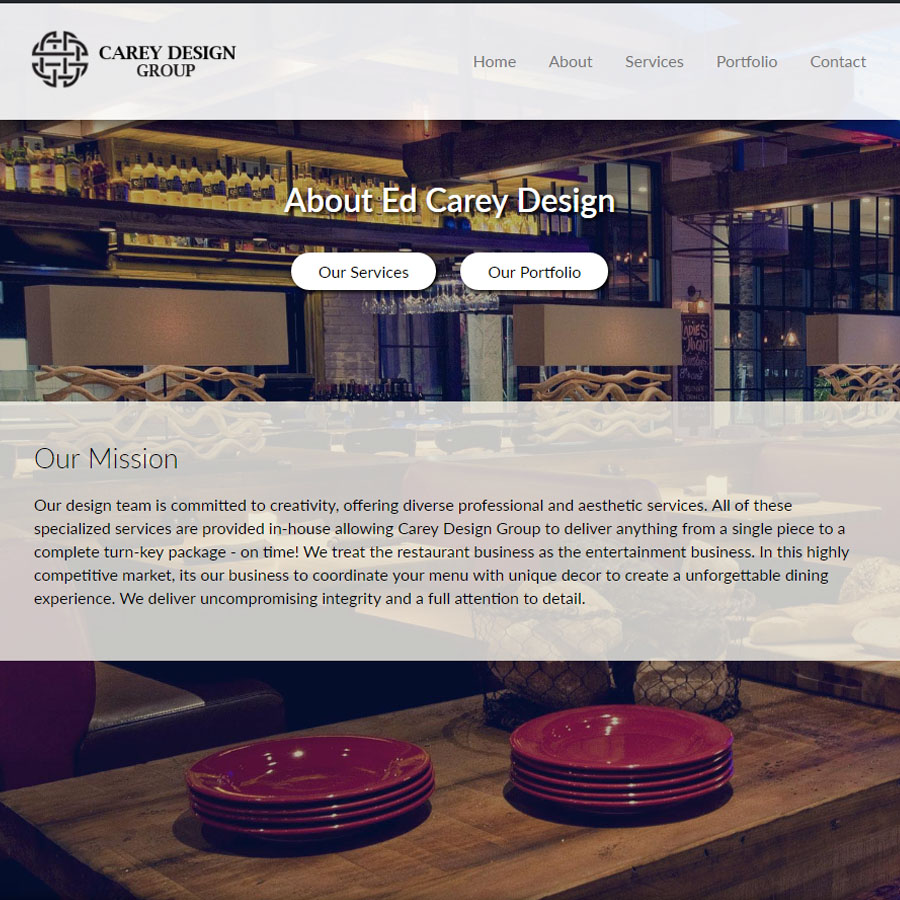 ed carey design website design