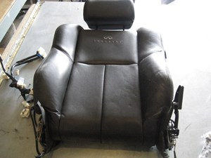 2003 infiniti g35 black drivers seat back with air bag and head rest