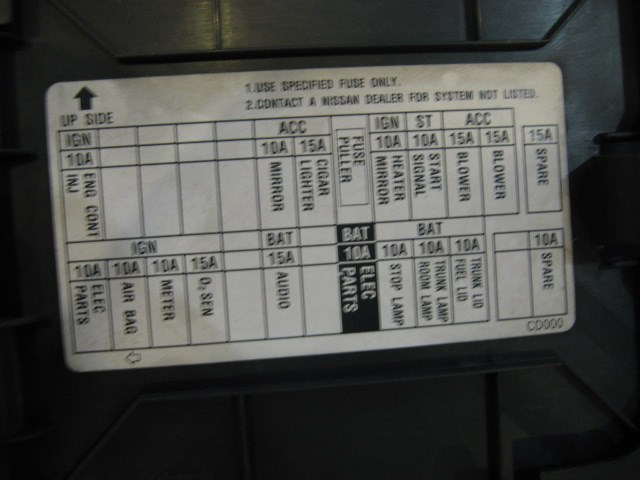 E Ec E D A Bc on 2003 Nissan 350z Fuse Box Location