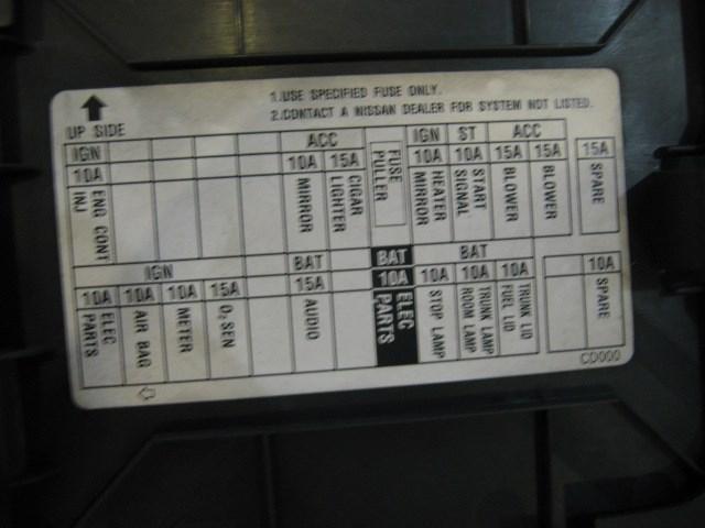 2004 Nissan Altima Fuse Box Diagram Pdf