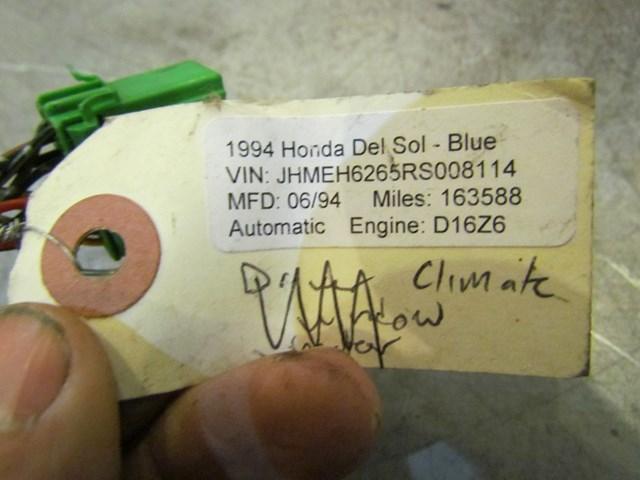 heater control wiring harness for 94 accord 1994 honda del sol climate control wire harness 32257 sr2 in avon  climate control wire harness 32257 sr2