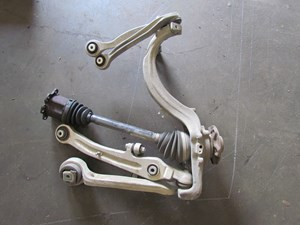 2004 Audi A8L LH Front Spindle With Control Arms And Axle