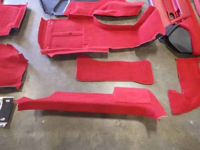 1991-1996 C4 Corvette Complete Red Interior Seats, Door Panels Carpet 28K  Miles