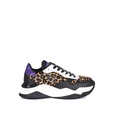CRIME LONDON Sneakers Con Tessuto Animalier Crime London  Sneakers | 25300AA2BLACK