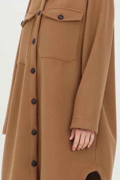 HAVEONE Cappotto donna cammello Haveone lungo con bottoni e fondo ampio  Cappotti | KMA-D020CAMMELLO