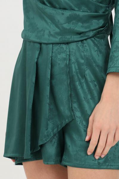 KONTATTO Tutina donna verde Kontatto casual in viscosa con stampa tono su tono  Tute | MU2044VERDE