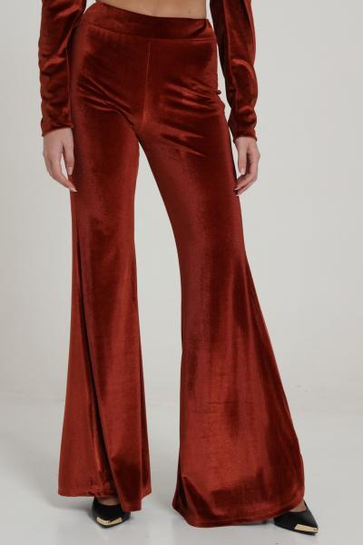 KOSTUMN1 Pantalone in velluto con fondo ampio  Pantaloni | KI20106COCCIO
