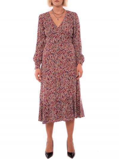 MICHAEL KORS tiered wrap dress  Abiti | MF801JFFP649DARKRUBY
