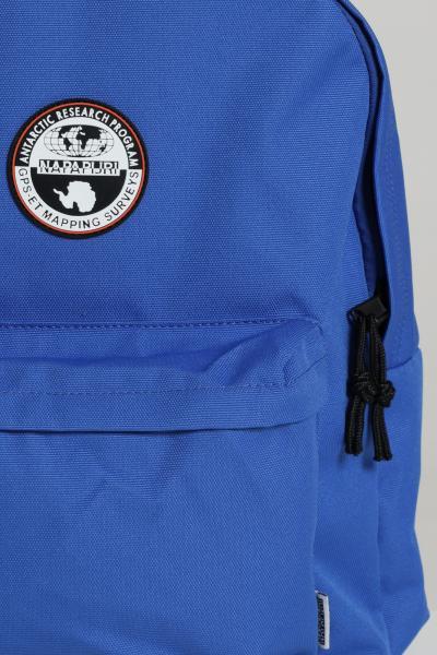 NAPAPIJRI Zaino unisex azzurro napapijri con manico e spallacci regolabili, tasca frontale con zip. Logo lettering a contrasto e patch frontale  Zaini | NP0A4EU1BE11BE11
