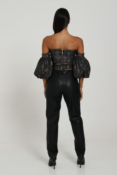 NBTS Pantalone in ecopelle modello slim Nbts  Pantaloni | 024NERO
