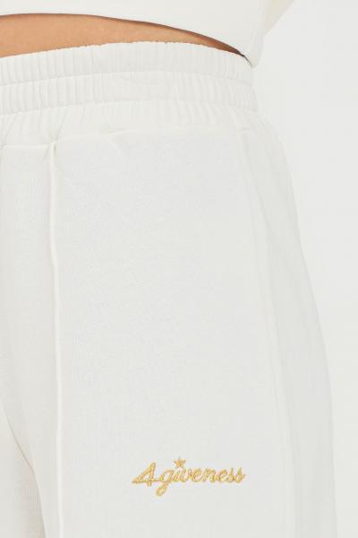 4GIVENESS Pantaloni donna bianco 4giveness modello casual con fondo ampio  Pantaloni | FGFW1148001