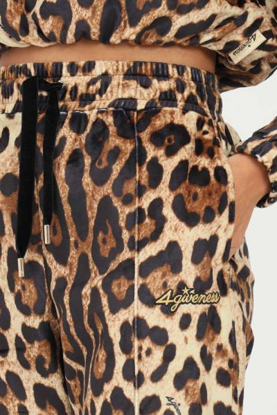 4GIVENESS Pantaloni donna maculato 4giveness modello casual con stampa allover  Pantaloni | FGPW1141200