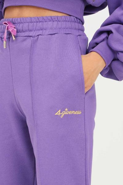4GIVENESS Pantaloni donna viola 4giveness modello casual con elastico in vita  Pantaloni | FGPW1147070