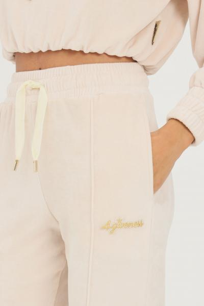 4GIVENESS Pantaloni donna panna 4giveness causal con elastico in vita  Pantaloni | FGPW1158003