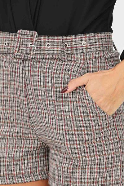 ADDICTED Shorts da donna addicted con trama geometrica e cintura in vita  Shorts | A5810FANTASIA