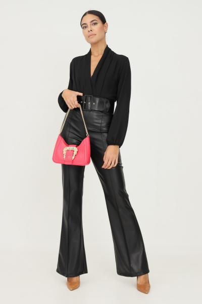 ADDICTED Pantaloni donna nero addicted in ecopelle con cintura in vita  Pantaloni | BY487NERO