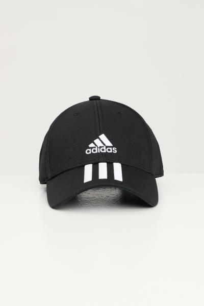 ADIDAS Berretto unisex nero adidas con logo frontale e bande a contrasto  Cappelli   FK0894.