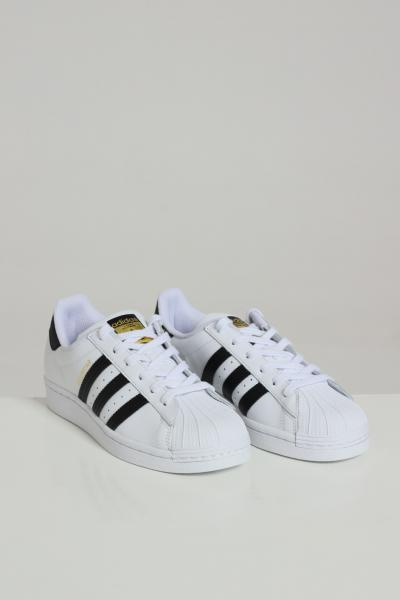 ADIDAS Sneakers adidas superstar J donna bianco con bande laterali  Sneakers   FU7712J.