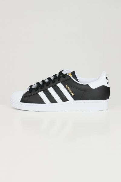 Sneakers superstar unisex di colore nero con bande a contrasto  Sneakers   FX2331.