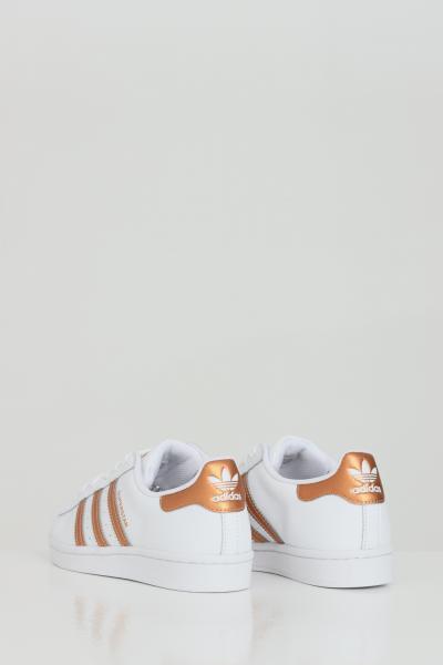 ADIDAS Sneakers superstar donna bianco adidas con inserti bronzo  Sneakers | FX7484FTWWHT/COPPMT